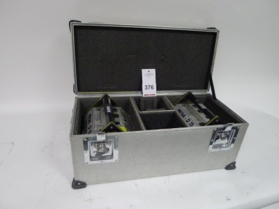 2 Cine Power Mega D 15 NIMH Batteries with Charger and Flight Case