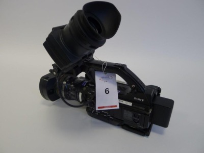 Sony PMW 300 Solid State Memory Camcorder, Serial No. 400932, 1855 Hours.