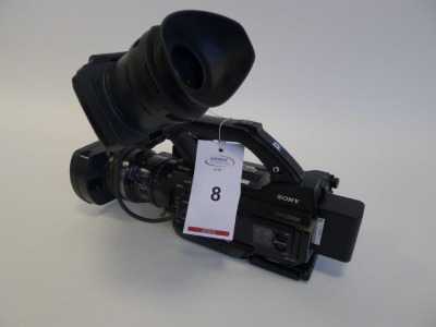 Sony PMW 300 Solid State Memory Camcorder, Serial No. 400381, 2062 Hours.