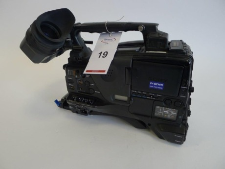 Sony PDW-F800 Professional Disc Camcorder, Serial No. 10220, 6049 hours