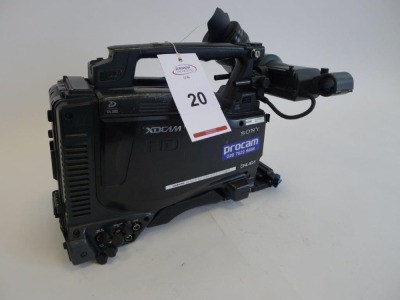 Sony PDW-F800 Professional Disc Camcorder, Serial No. 106696, 5264 Hours. - 2