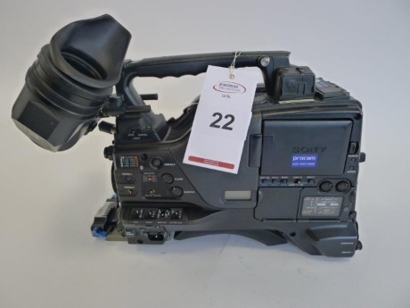 Sony PDW-F800 Professional Disc Camcorder, Serial No. 10703, 3856 Hours