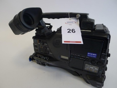 Sony PDW-F800 Professional Disc Camcorder, Serial No. 10702, 5073 Hours