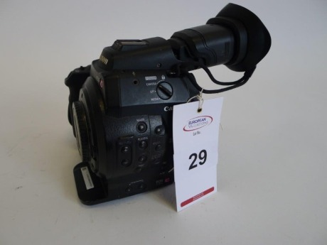 Canon EOS C300 Cinema Camera, Serial No. 534000000000, 2662 Hours, with monitor