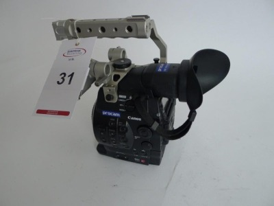 Canon EOS C300 Cinema Camera, Serial No. 534000000000, 1568 Hours, with monitor