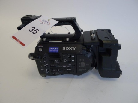 Sony PXW-FS7 Solid State Memory Camcorder Body with Sony XDCA-FS7 Extension Unit, Serial No. 22005, 3042 Hours