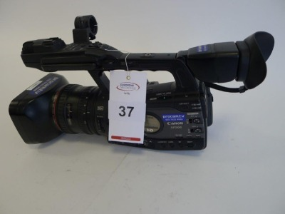 Canon XF305E Professional HD Camcorder, Serial No. 264000000000, 1821 Hours