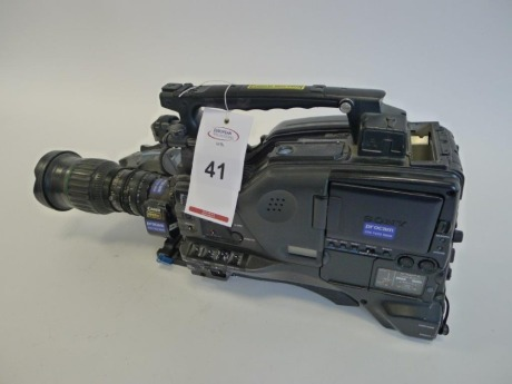 Sony PDW-F800 Professional Disc Camcorder with Canon HJ11EX 4.7B 4.7-52mm Zoom Lens, Serial No. 60226, 3189 Hours