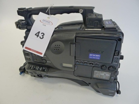Sony PDW-F800 Professional Disc Camcorder, Serial No. 60307, 2388 Hours