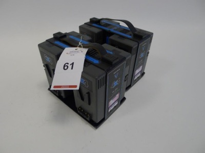 2 Hawk Woods VL-4X4 Simultaneous V-Lock Battery Chargers