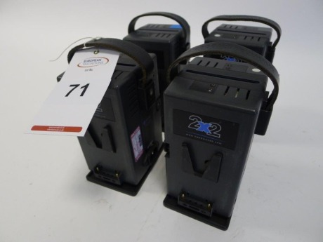 4 Hawk Woods VL-2X2P V-Lock Dual Battery Chargers